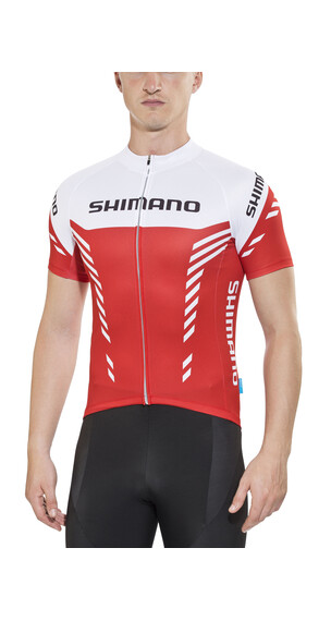 Shimano Print - Maillot manches courtes Homme - rouge/blanc